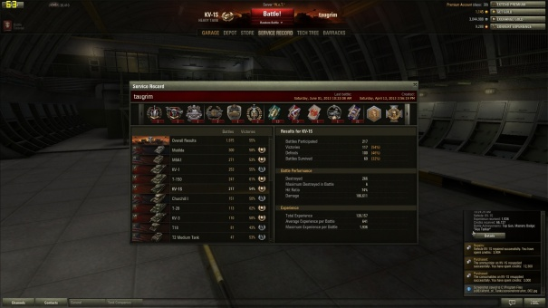KV-1S Ace Tanker Mastery Badge