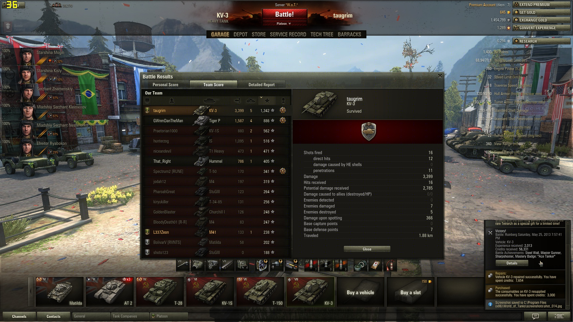 Competing in World of Tanks Without Premium Ammo (56WR