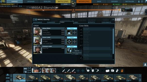 Starship commander and crew