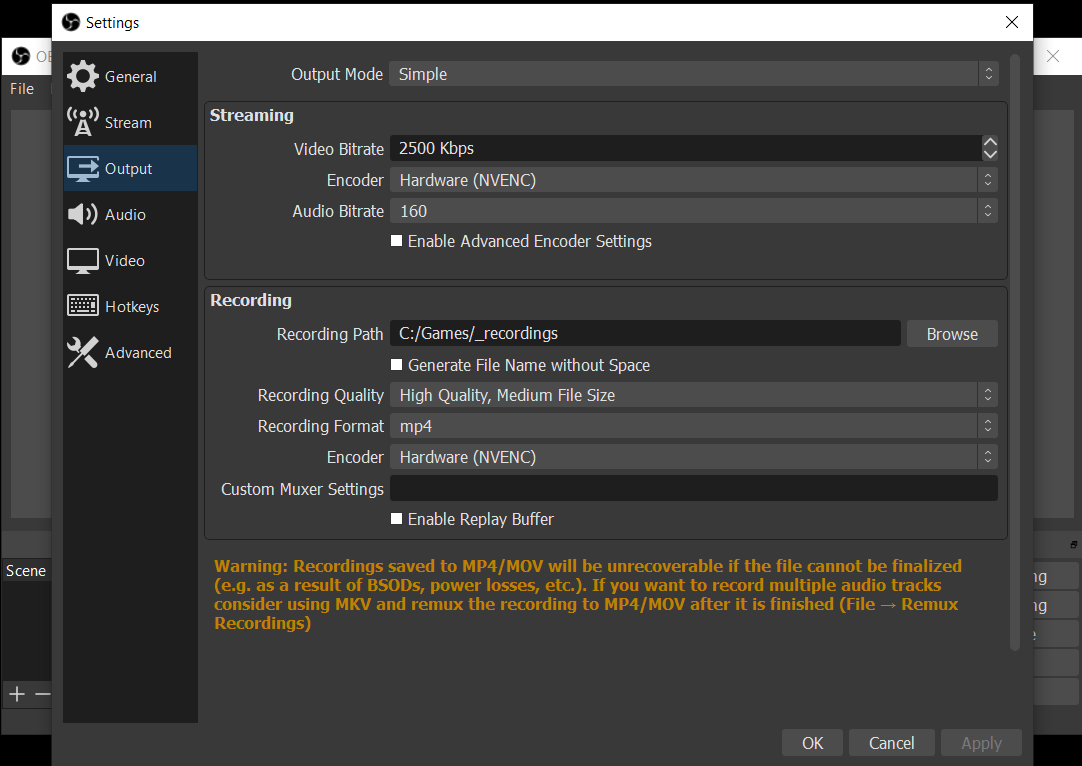 Guide To The Best Obs Settings For Recording Gameplay In 2020 Taugrim S Mmo Blog